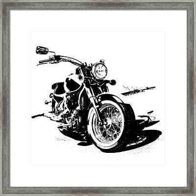 2013 Kawasaki Vulcan Classic Graphic Framed Print by Melissa Smith