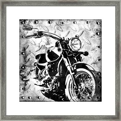 2013 Kawasaki Vulcan Monotone Framed Print by Melissa Smith