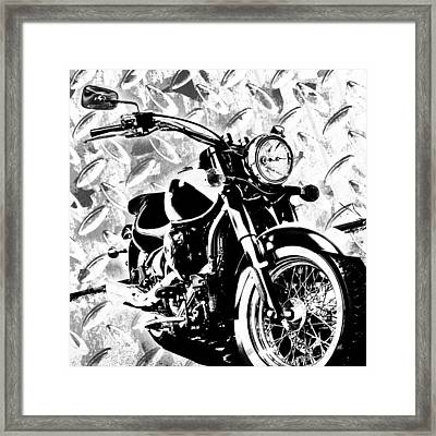 2013 Vulcan Monotone Framed Print by Melissa Smith