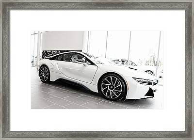 Framed Print featuring the photograph 2014 Bmw E Drive I8 by Aaron Berg