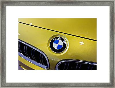 Framed Print featuring the photograph 2015 Bmw M4 Hood by Aaron Berg