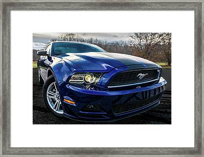 Framed Print featuring the photograph 2014 Ford Mustang by Randy Scherkenbach