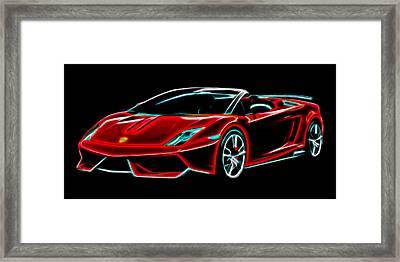 Framed Print featuring the digital art 2014 Lamborghini Gallardo by Aaron Berg
