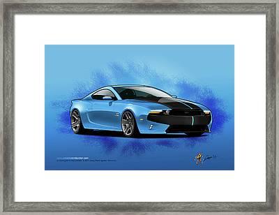 2014 Mustang  Framed Print