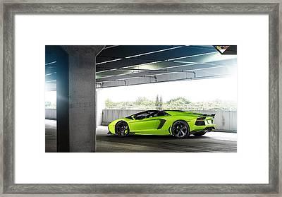 2014 Vorsteiner Lamborghini Aventador V Verde Ithaca 2  1 Framed Print