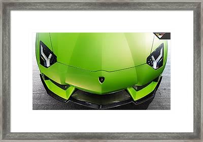 2014 Vorsteiner Lamborghini Aventador V Verde Ithaca 3  1 Framed Print