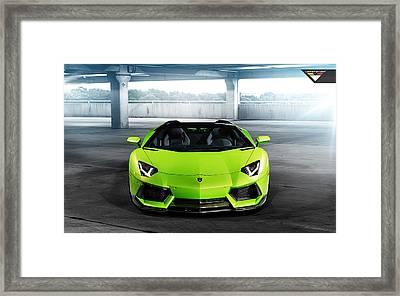 2014 Vorsteiner Lamborghini Aventador V Verde Ithaca 4  Framed Print