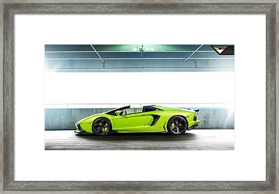 2014 Vorsteiner Lamborghini Aventador V Verde Ithaca 5  1 Framed Print