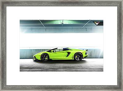 2014 Vorsteiner Lamborghini Aventador V Verde Ithaca 5 Wide Framed Print