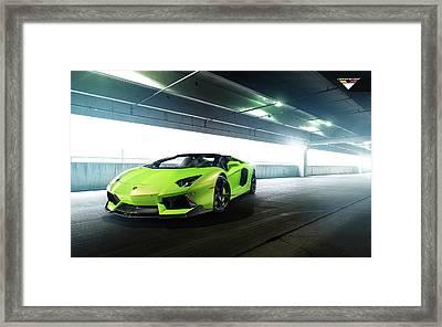2014 Vorsteiner Lamborghini Aventador V Verde Ithaca Wide Framed Print