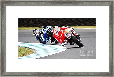 2015 Aussie Moto Grand Prix Framed Print by Blair Stuart