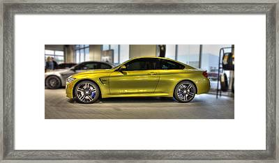 Vehicles Framed Print featuring the photograph 2015 Bmw M4 by Aaron Berg