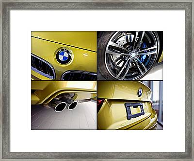 Framed Print featuring the photograph 2015 Bmw M4 Collage  by Aaron Berg