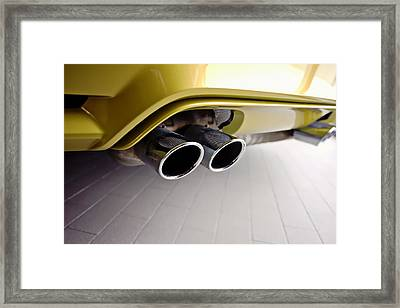 Framed Print featuring the photograph 2015 Bmw M4 Exhaust by Aaron Berg