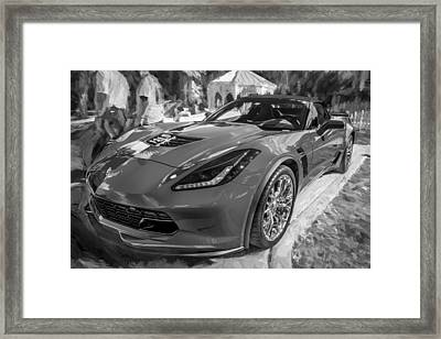 2015 Chevrolet Corvette Zo6 Painted Bw Framed Print by Rich Franco