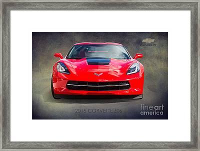 2015 Corvette Z06 By Darrell Hutto Framed Print
