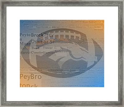 2015 Denver Broncos Players Framed Print