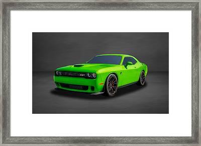 2015 Dodge Challenger Srt Hellcat  -  Dgch33 Framed Print by Frank J Benz