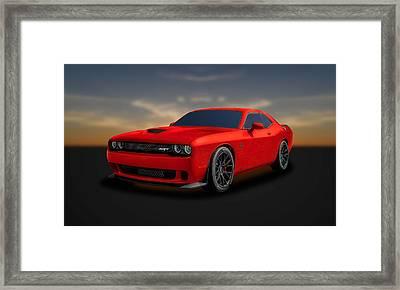 2015 Dodge Challenger Srt Hellcat  -  Srtrd1 Framed Print by Frank J Benz