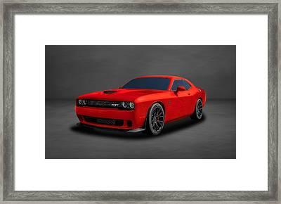 2015 Dodge Challenger Srt Hellcat  -  Srtrd2 Framed Print by Frank J Benz