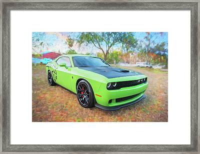 2015 Dodge Srt Hellcat Challenger C301 Framed Print by Rich Franco