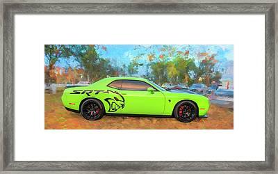 2015 Dodge Srt Hellcat Challenger C303 Framed Print by Rich Franco