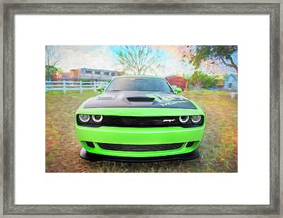 2015 Dodge Srt Hellcat Challenger C304 Framed Print by Rich Franco