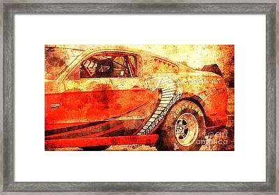 2015 Ford Mustang Cobra Jet, Classic Car, Original Gift For Husband Framed Print