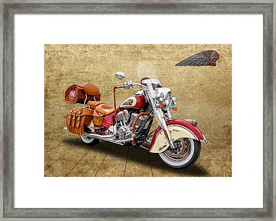 2015 Indian Chief Vintage Motorcycle - 1 Framed Print
