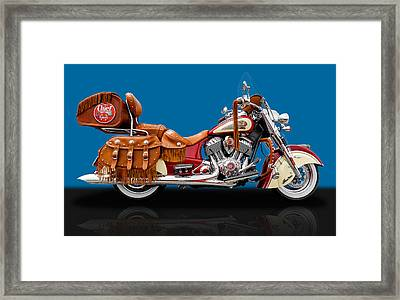 2015 Indian Chief Vintage Motorcycle - 6 Framed Print