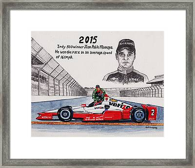 2015 Indy 500 Winner Framed Print by Jeff Blazejovsky