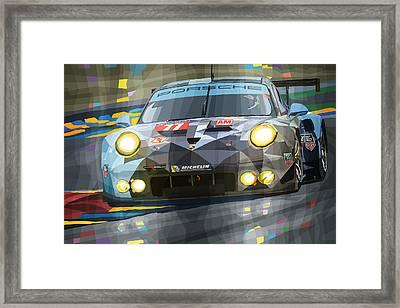 2015 Le Mans Gte-am Porsche 911 Rsr Framed Print by Yuriy Shevchuk