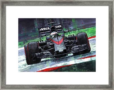 2015 Mclaren Honda F1 Austrian Gp Alonso  Framed Print