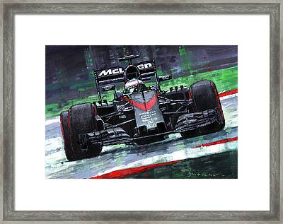2015 Mclaren Honda F1 Austrian Gp Alonso  Framed Print by Yuriy Shevchuk