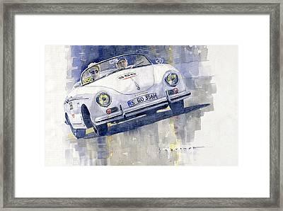 2015 Mille Miglia Porsche 356 1500 Speedster Framed Print by Yuriy Shevchuk