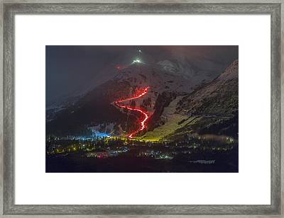 2015 New Year's Eve Torchlight Parade Framed Print by Tim Grams