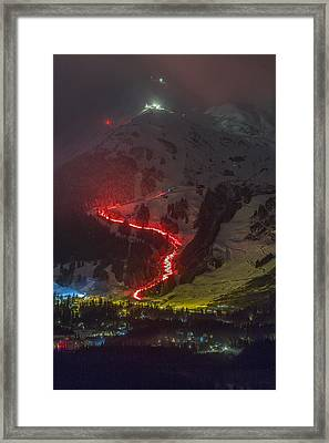 2015 New Year's Eve Torchlight Parade Two Framed Print by Tim Grams