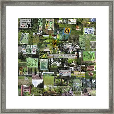 2015 Pdga Amateur Disc Golf World Championships Photo Collage Framed Print by Robert Glover