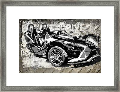 2015 Polaris Slingshot  Framed Print by Melissa Smith