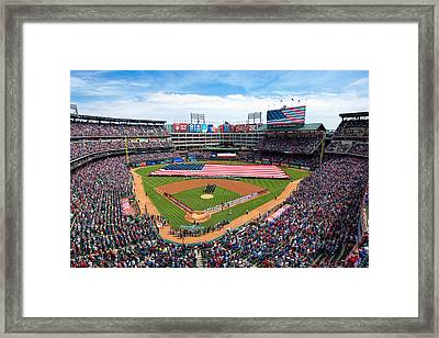 2015 Texas Rangers Home Opener Framed Print