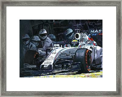 2015 Williams Fw37 F1 Pit Stop Spain Gp Massa  Framed Print