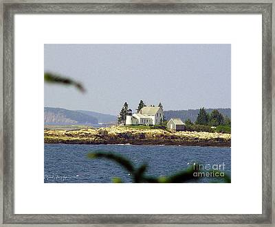 2015 Winter Harbor Light Framed Print