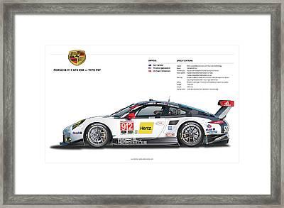 2016 911gt3r Rsr Poster Framed Print