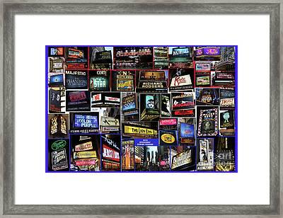 2016 Broadway Spring Collage Framed Print