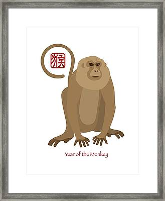 2016 Chinese New Year Of The Monkey Framed Print by Jit Lim