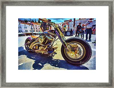 2016 Custom Harley Winner Framed Print