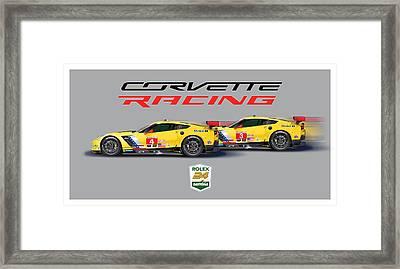 2016 Daytona 24 Hour Corvette Poster Framed Print