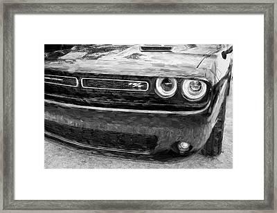 2016 Dodge Challenger R/t Bw Framed Print by Rich Franco