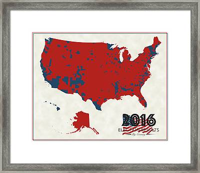 2016 Election Results Framed Print by Finlay McNevin