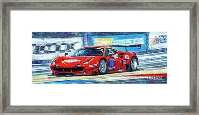 2016 Hankook 24h Epilog Brno Ferrari 488 Gt3 Winner Framed Print